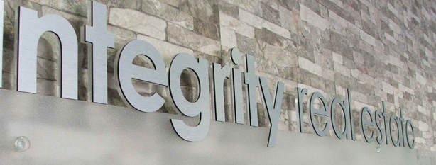 Integrity Real Estate 3D Lettering Sign